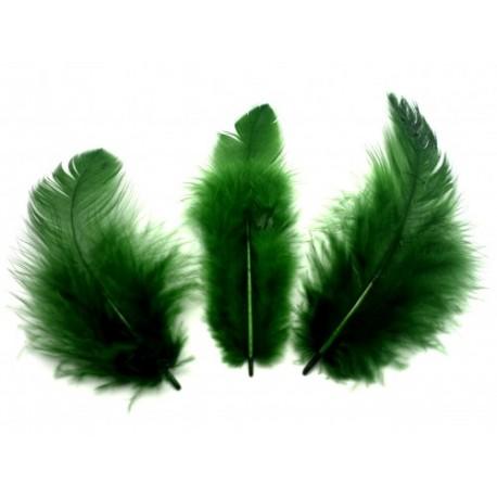 Peří, smaragdově zelené, 10 g