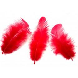 Peří, barva červená, 10 g