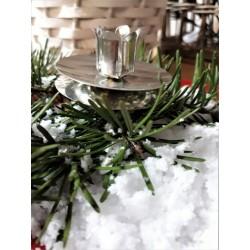 Retro svícínek stříbrný, průměr 4,5 cm