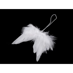 Andělská křídla na zavěšení, 2 ks, 6 cm šířka, 9 cm výška