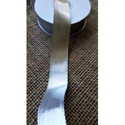 Stuha metalická stříbrná, 2,5 cm