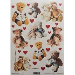 Rýžový papír, Medvídci, A4