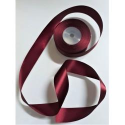 Stuha saténová, vínová, šířka 3,8 cm