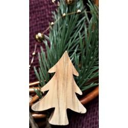 Dřevěný stromeček dekorační, výška 4 cm, šířka 3 cm