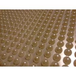 Samolepící plastové perličky,  barva krémová, 504 kusů, 0,5 cm