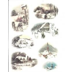 Rýžový papír, Kostelíčky a srnečky, A4
