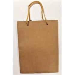 Taška dárková, papírová, barva přírodní, 19,5 x 15 cm