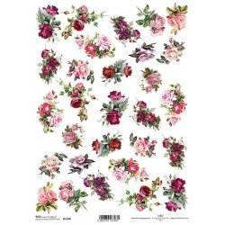 Rýžový papír Růžičky malé kytičky
