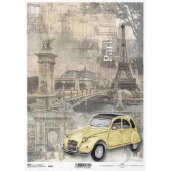 Rýžový papír Eiffelovka, Paříž a citroen