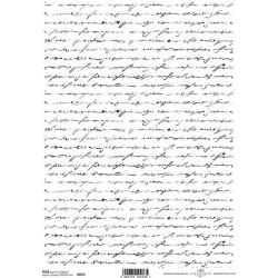 Rýžový papír Písmo na bílém podkladu
