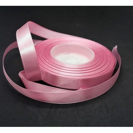 Stuha saténová, růžová, šířka 1,2 cm