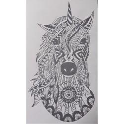Transfer na textil Vlk a lapač snů