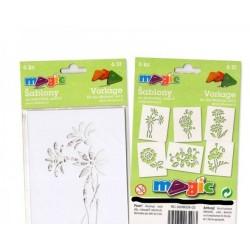 Šablony papírové, Květiny, 6 ks