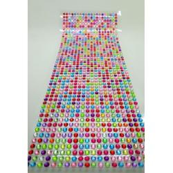 Samolepící kamínky, barevné, 1000 ks, 0,4 cm