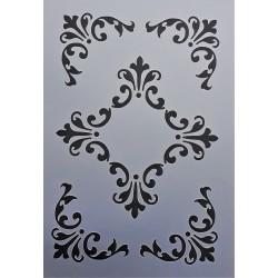 Šablona plastová, ornamenty Vintage, A5
