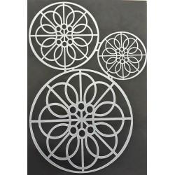 Šablona plastová, Kruhy s ornamenty, A5