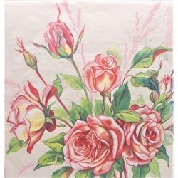 Ubrousek, Růže, 33 x 33 cm