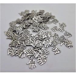 Přívěsek kovový, Ruka, 1,2 cm x 1,2 cm
