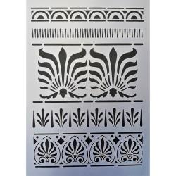 Šablona plastová, Řecké ornamenty, A4