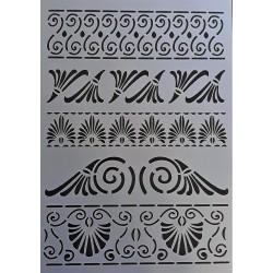 Šablona plastová, Řecké ornamenty 1, A4
