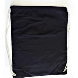 Batoh, bavlněný, černý, 46 cm x 37 cm