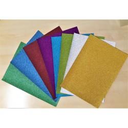 Papír třpytivý, 8 ks, A4, mix barev