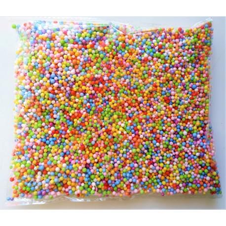 Polystyrenové kuličky, barevné, 8g