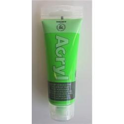 Akrylová barva, Zelená fluorescenční, 75 ml