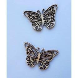 Výřez z překližky, motýlek, 3,6 cm x 5,5 cm