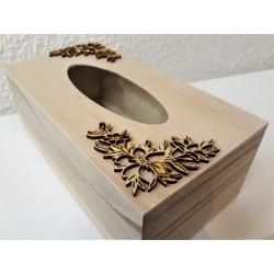 Výřez z překližky, Ornament rohový, délka 7 cm, průměr ornamentu 9 cm