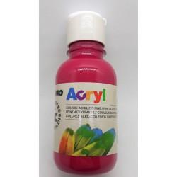 Akrylová barva, Růžová, 125 ml