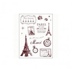 Gelová razítka, Paříž, Eiffelovka, sada 16 kusů