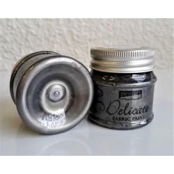 Barva na textil metalická Delicate antická stříbrná 50 ml Pentart