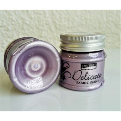 Barva na textil metalická Delicate fialovostříbrná 50 ml Pentart