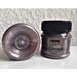 Barva akrylová metalická Glamour starostříbrná 50 ml