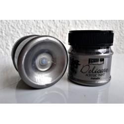 Akrylová barva metalická Delicate antické stříbro 50 ml