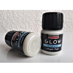 Akrylová barva svítící ve tmě světle modrá 30 ml