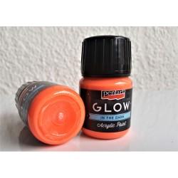 Akrylová barva svítící ve tmě oranžová 30 ml