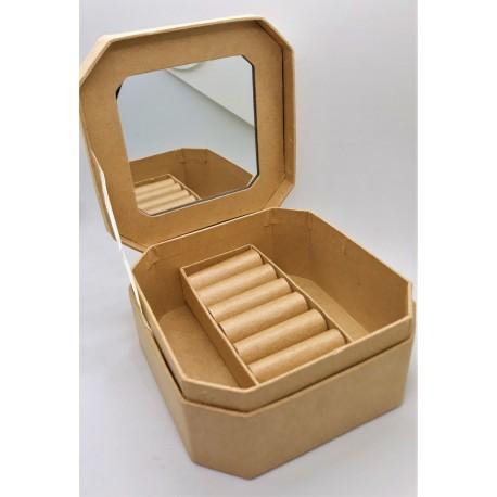 Šperkovnice se zrcátkem 10 cm x 5 cm x 10 cm, k dozdobení