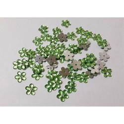 Květina plastová našívací zelená 50 ks