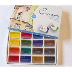 Sada akvarelových barev Sonnet 16 ks