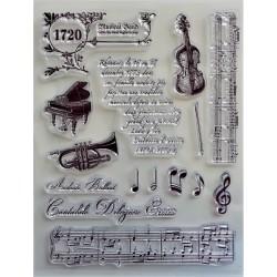 Gelová razítka Hudební nástroje