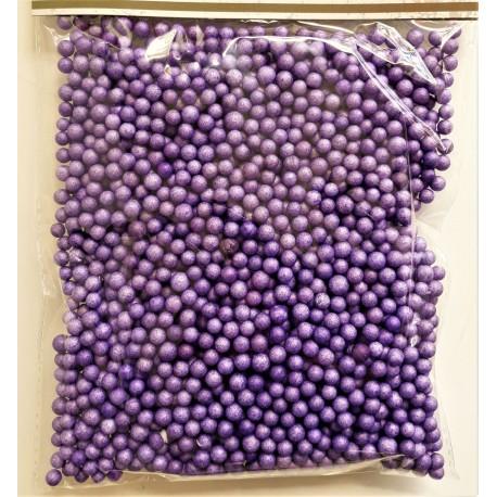Polystyrenové kuličky fialové 4-6 mm 8 g