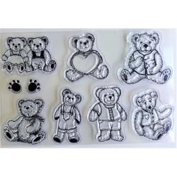 Gelová razítka Medvídci