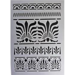Šablona plastová Řecké ornamenty 2 A5