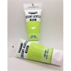 Akrylová barva metalická světle zelená 60 ml Pentart