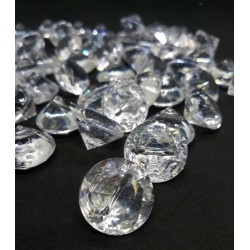 Akrylový diamant průhledný průměr 1,8 cm