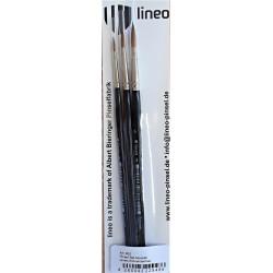 Štětce na akvarel sada Lineo
