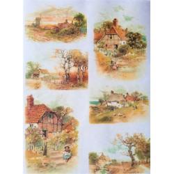 Rýžový papír Vesničky A4