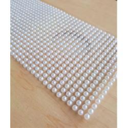 Samolepící perličky bílé 1000 kusů 3 mm